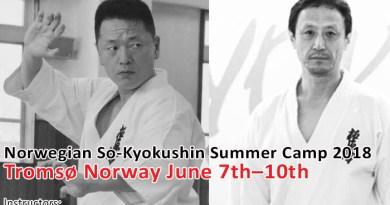 Velkommen til Norwegian So-Kyokushin Summer Camp 2018