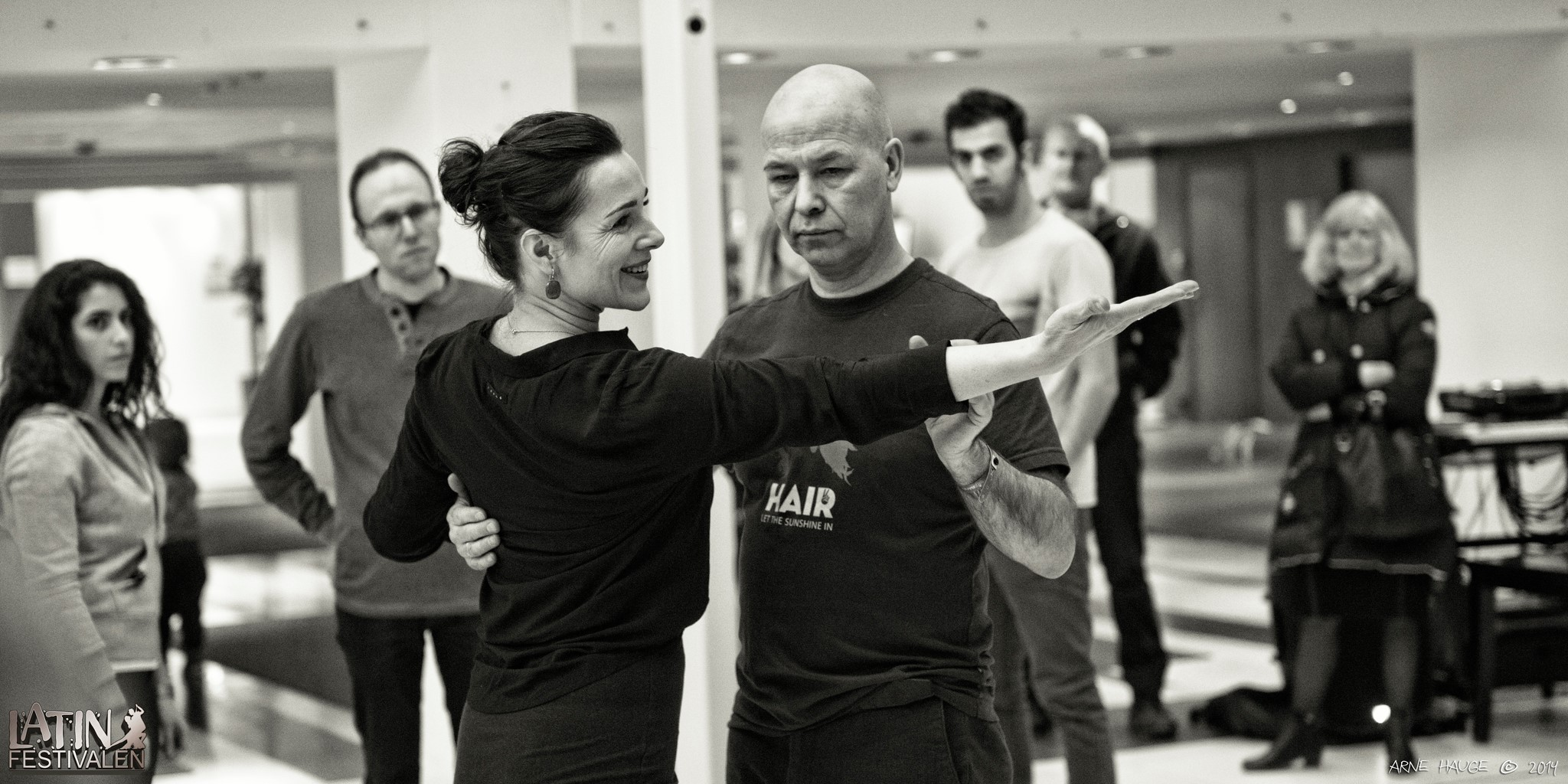 Inguna, with husband, instructing at the Latin Festival in Trondheim, 2014