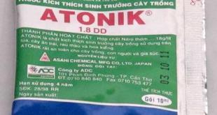 Atonik- trong thành phần có chứa chất điều hòa sinh trưởng- kích thích sự sinh trưởng