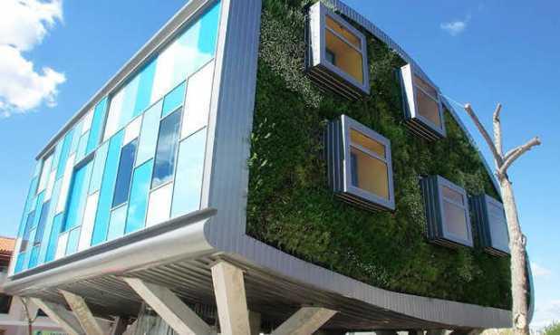 Thiết kế tòa nhà làm giảm khí thải carbon.