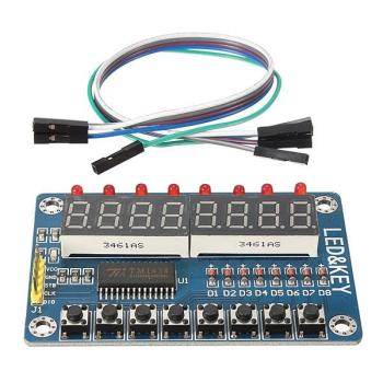 TM1638 Chip Key Display Module 8 Bits Digital LED Tube