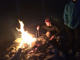 Around the fire at Old Orchard