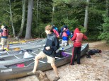 Scouts Loading the Canoes on the Second Day