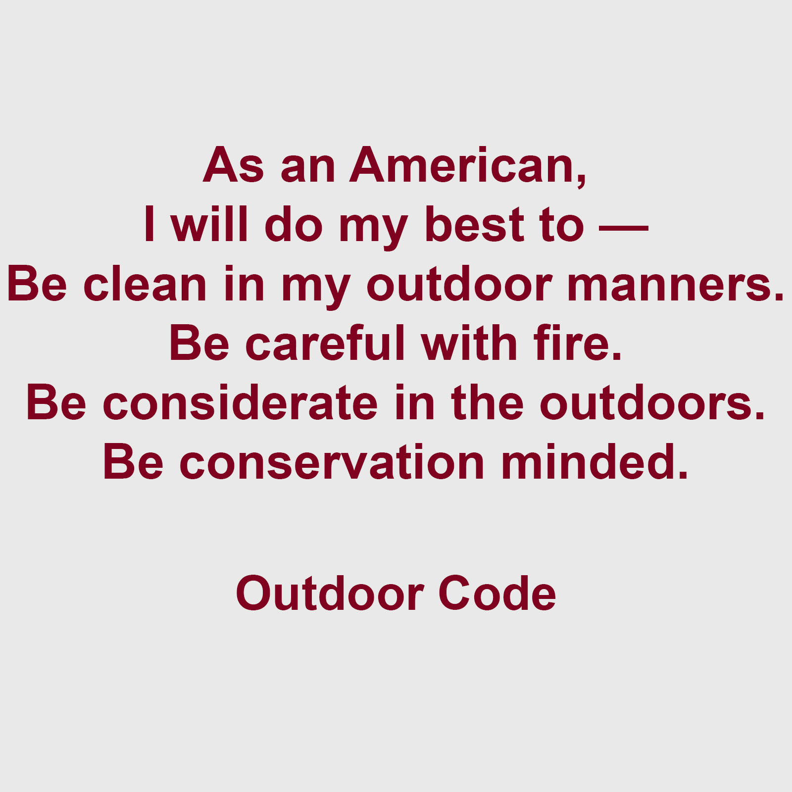 Cub Scout Outdoor Code Printable That Are Challenger