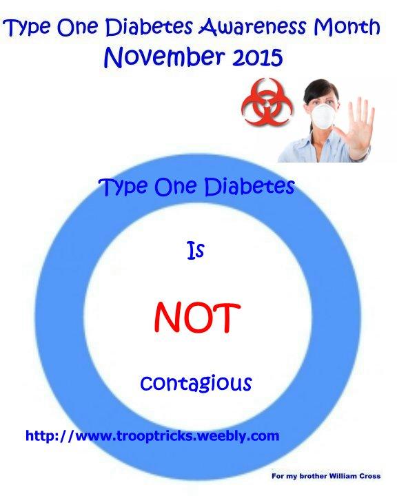 Is Diabetes Contagious : diabetes, contagious, Diabetes, Awareness, Month:, Caitlin, Cross, Troop, Tricks