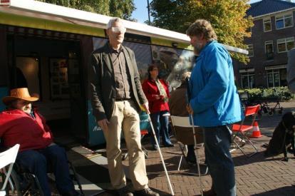 Blindenparcours bij Bus 1202 van Programma VCP in Ermelo