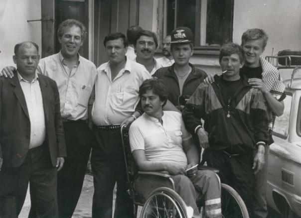groepesfoto met Constantin in het midden