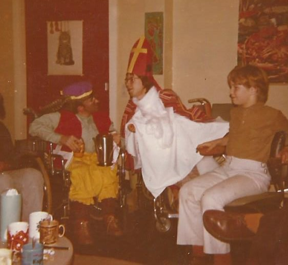 Ontmoeting Piet Jan met SInterklaas 1973