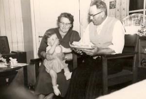 Met oma en opa Branderhorst