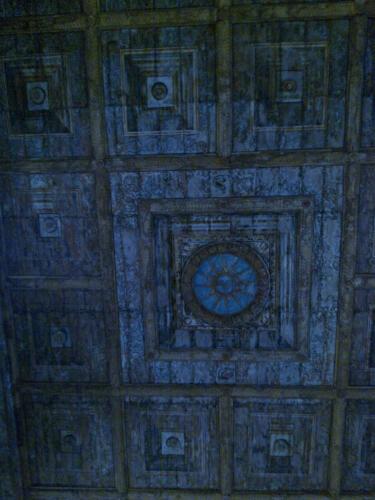 Tropea, chiesa dell'annunziata cassettone rinascimentale in legno.jpg