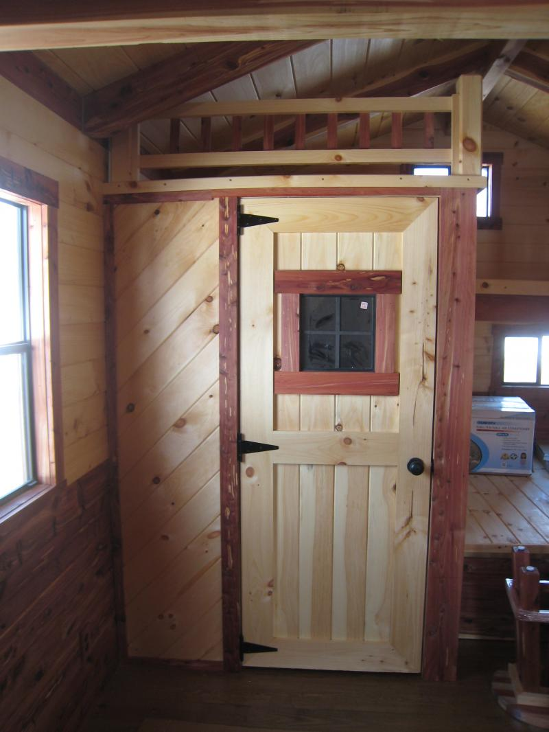 Trophy Amish Cabins LLC  12 X 32 LODGECedar Deluxe