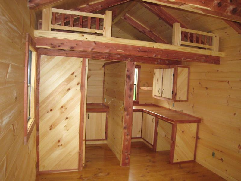 Awesome 18 Images Tiny Cabin With Loft House Plans 82627