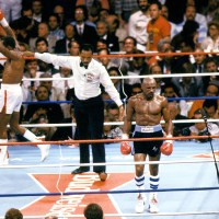 "4/6/87: Sugar Ray Leonard Wins ""Superfight"" With Hagler"