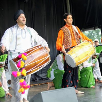 Dhol Drummers playing