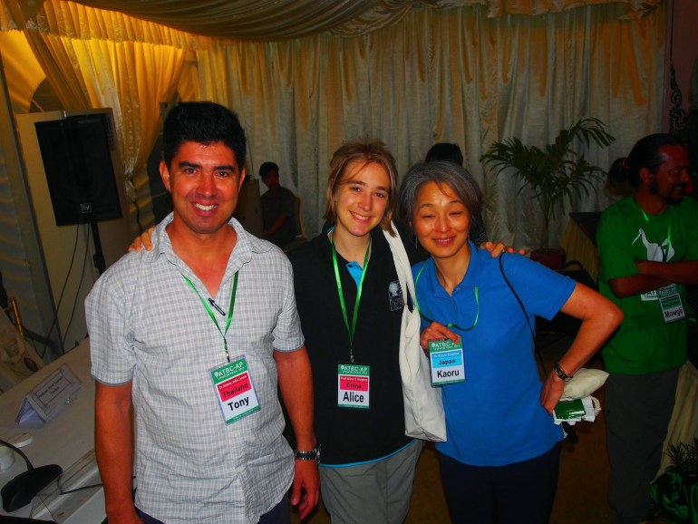 Tony Lynam, Alice Hughes and Kaoru Kitajima from the ATBC AP Chapter committee