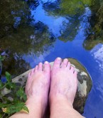 Cooling off my tootsies