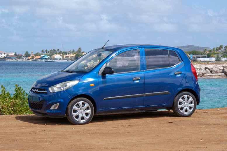 Tropical car rental Bonaire - Hyundai i10 auto huren