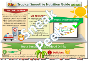 Tropical Smoothie Nutrition Superfoods Halfsie