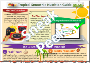 Tropical Smoothie Nutrition Trace Minerals Halfsie