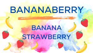 Shaved Ice Flavors-Tropical Sno Peoria-BANANABERRY: sweet banana, summery strawberry.