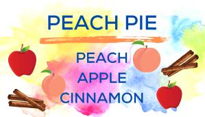Shaved Ice Flavors-Tropical Sno Peoria-PEACH PIE: Juicy peach, sweet apple, spicy cinnamon.