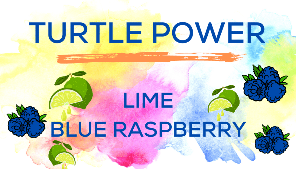 Shaved Ice Flavors-Tropical Sno Peoria-TURTLE POWER- fresh lime, tart blue raspberry