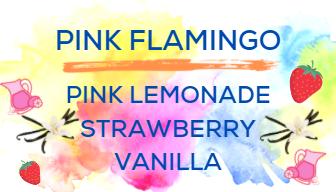 Shaved Ice Flavors-Tropical Sno Peoria-PINK FLAMINGO- pink lemonade, strawberry, vanilla