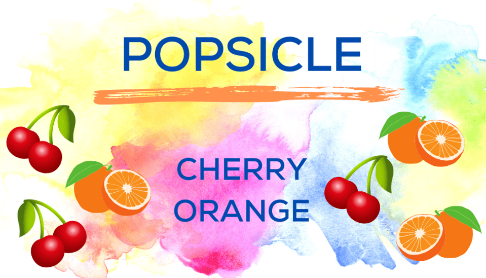 Shaved Ice Flavors-Tropical Sno Peoria-POPSICLE- cheerful cherry, juicy orange