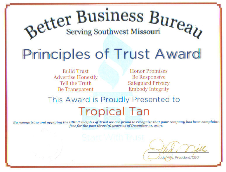 BBB Principles of Trust Award 1