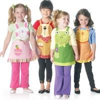 Little girl apron dreams