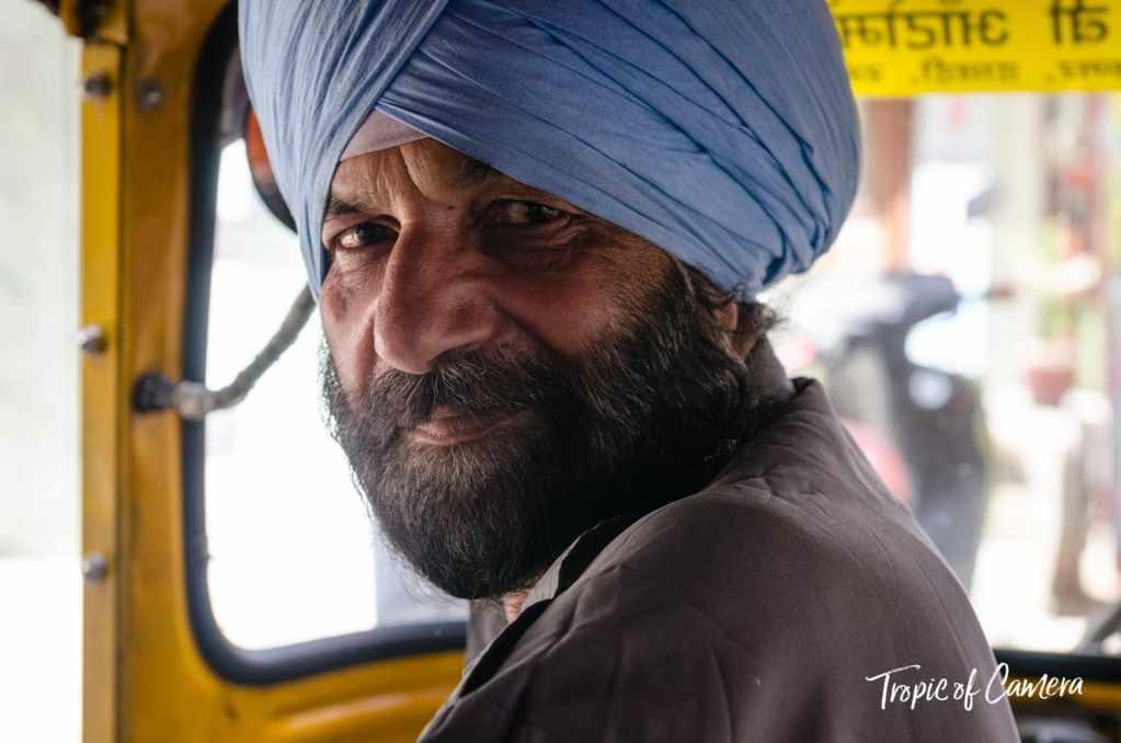 Indian tuk tuk driver in New Delhi