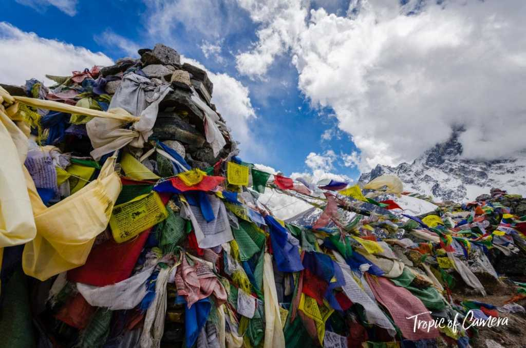 Prayer flags in the Himalayas, Nepal