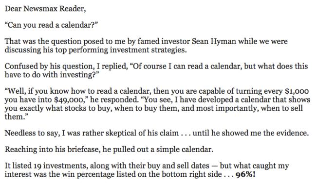 can you read a calendar aaron dehoog and sean hyman