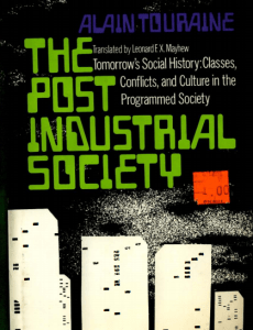 Touraine post-industrial society cover
