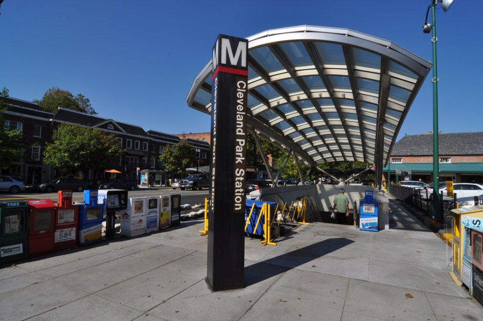 Cleveland Park Metro station circa 2014