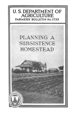 This bulletin deals chiefly with the economic problems that will be met by those people who are planning to combine part-time farming and wage earning, 1934 | Photo courtesy of US Library of Congress