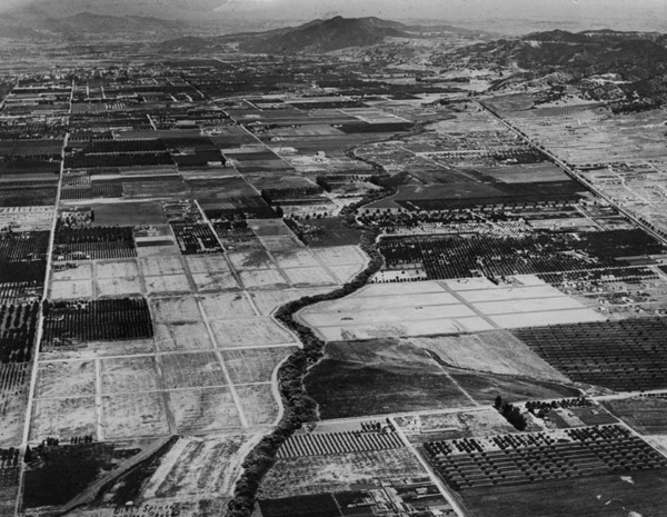 Farms dot the landscape of the San Fernando Valley, 1929 | Security Pacific National Bank Collection, Los Angeles Public Library