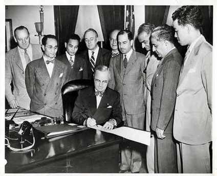 Truman was not a fan of the 1952 Act but couldn't stop it.