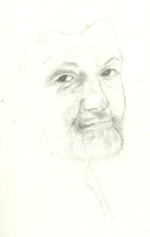 An oddly paternal looking Unabomber Ted Kaczynski circa 1990s by Caribbean Fragoza