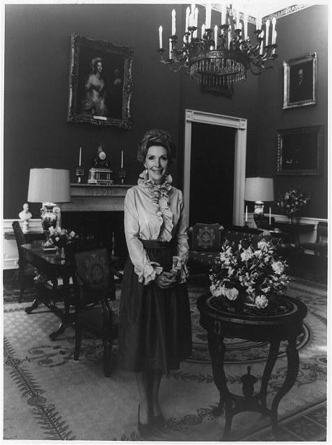 "Not exactly ""besties""; Nancy Davis Reagan, full-length portrait, standing, facing front, in the White House, 1979, Prints and Photographs Division, Library of Congress"