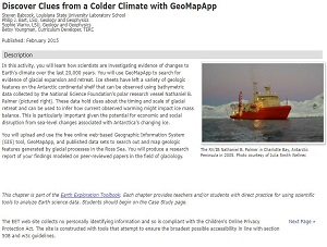 Colder Climate with GeoMapApp