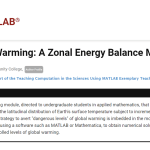 Laboratory Activity: Modeling the Earth's Zonal Energy Balance