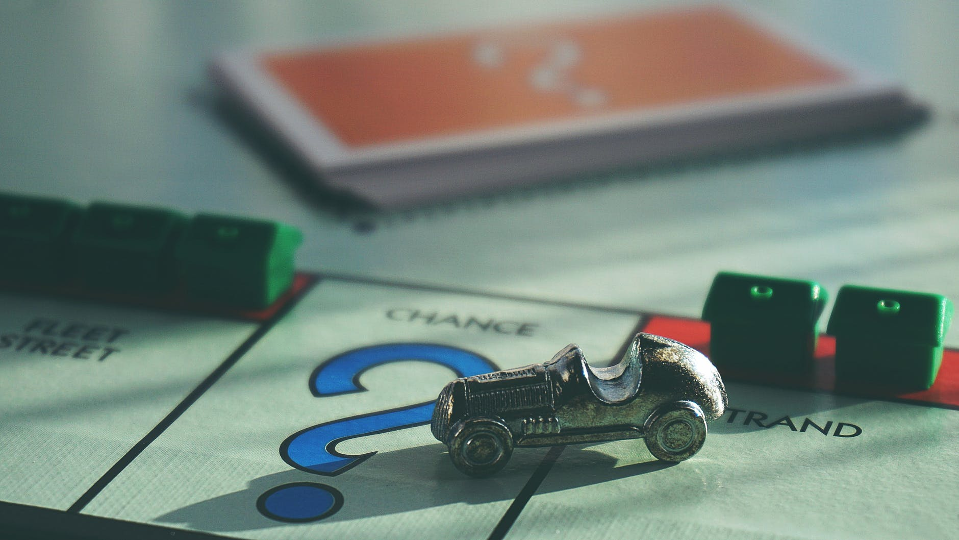 toy car on top of board game