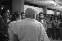 El doctor carrion director on cultural center in a speach