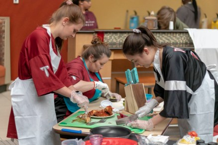 Students had 45 minutes to prepare and plate their dishes for the judges.