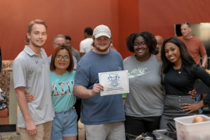Team Delta Sigma Pi won third place.