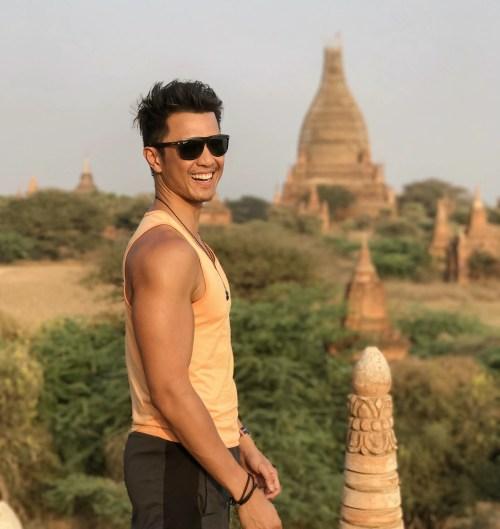 bagan myanmar temple climbing