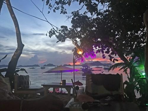 la plage sunset el nido palawan philippines