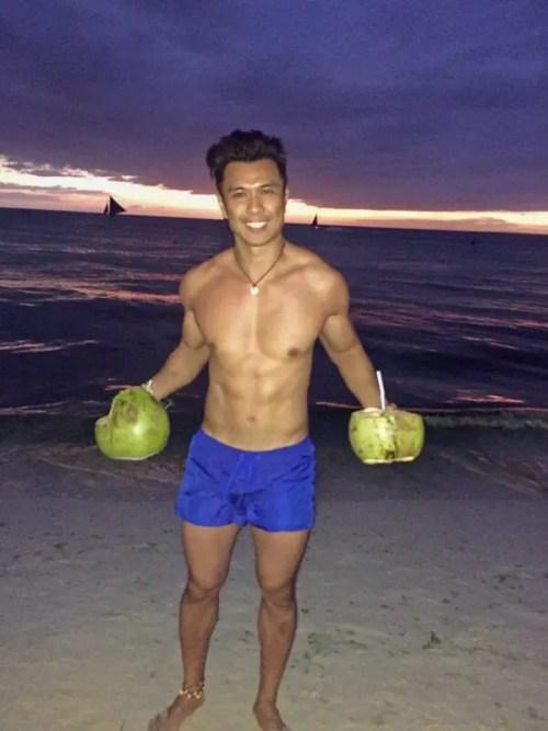 coconut sunset boracay philippines