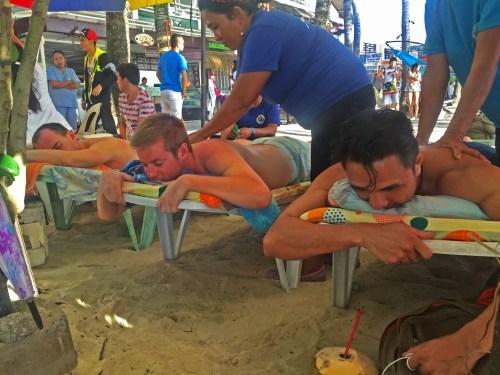 massage on the beach boracay philippines